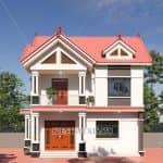 Mẫu biệt thự 2 tầng mái thái hiện đại đẹp tại Tiền Hải - Thái Bình
