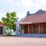 Mẫu Từ Đường Kèm Nhà Ngang Đẹp Tại Quảng Ninh