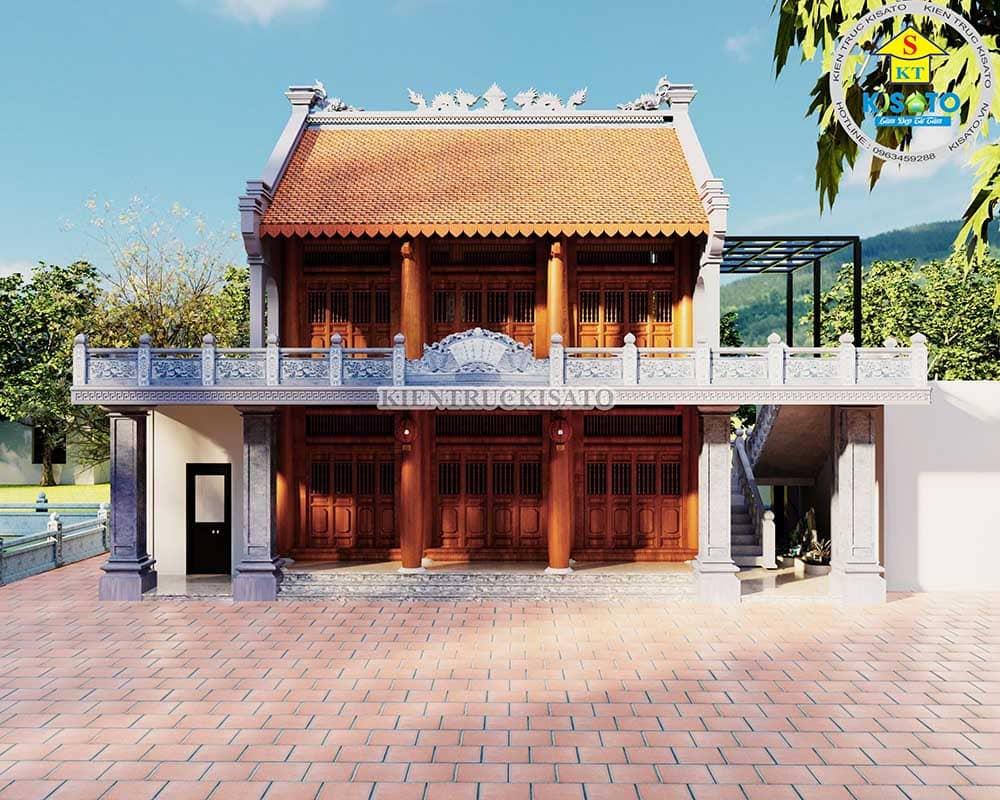 Công trình từ đường 2 tầng bề thế uy nghi của gia chủ Bùi Văn Cường tại Kiến Xương, Thái Bình