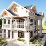 Mẫu Biệt Thự 2 Tầng Mái Thái Đẹp Đẳng Cấp Năm 2020 Tại Sơn Dương Tuyên Quang