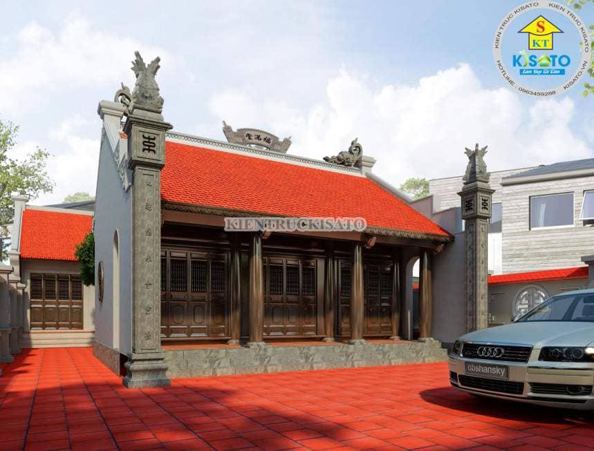 Mẫu nhà thờ họ tại Hải Dương với màu trầm đạm nét truyền thống