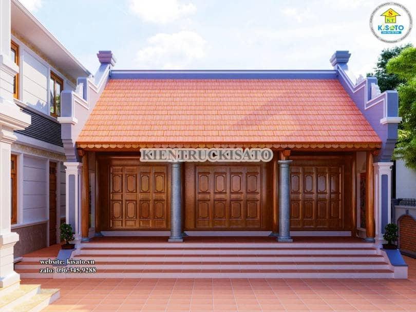 Phối cảnh 3D mẫu nhà thờ họ tại Hà Nội