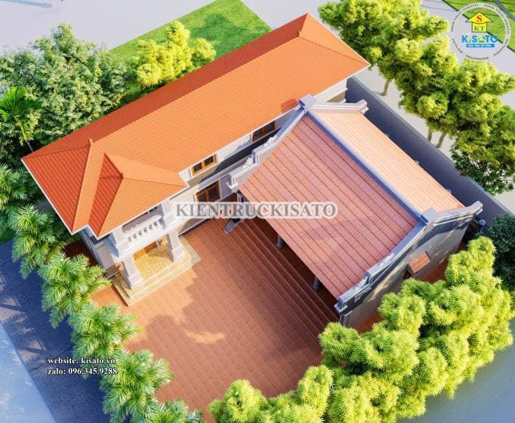 Phối cảnh tổng thể mẫu nhà thờ họ tại Hà Nội