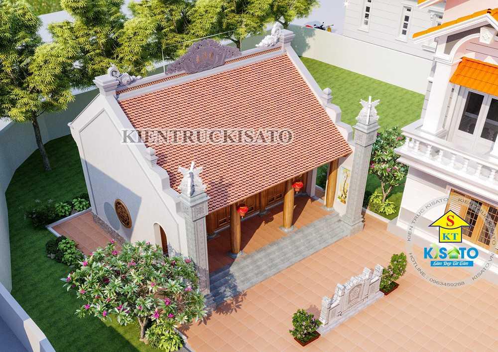 Mẫu thiết kế nhà thờ họ kết hợp biệt tự