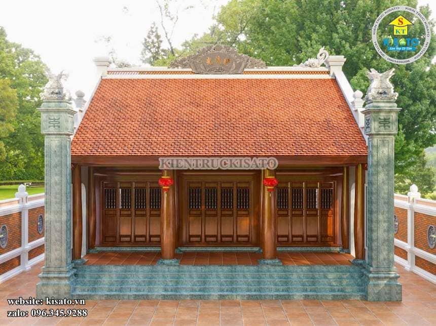 Phối cảnh 3D mẫu từ đường tại Nam Định