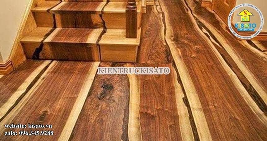 Một mẫu thi công sàn gỗ tự nhiên ấn tượng