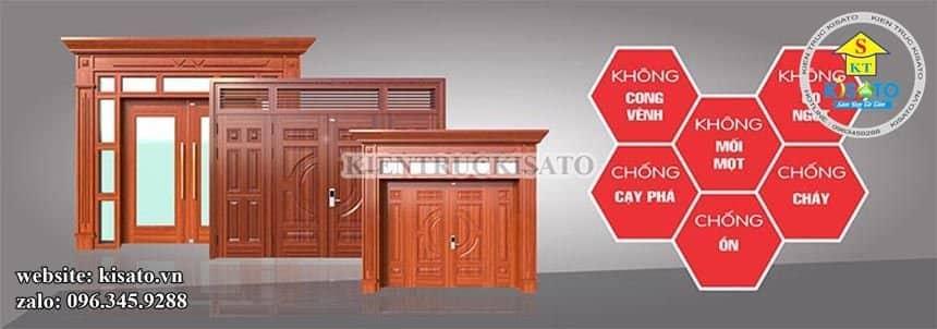 Ưu điểm của sản phẩm dùng trong thi công cửa thép vân gỗ