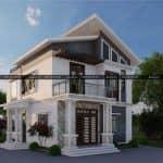 Đắm Nhìn Mẫu Biệt Thự Hiện Đại Đẹp Mái Lệch Tại Lục Nam Bắc Giang
