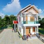 Mẫu Biệt Thự 2 Tầng Đẹp 150 m2 Tại Xuân Trường Nam Định