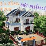 Mẫu Biệt Thự 2 Tầng Hiện Đại Đẹp Nổi Bật Tại Tiên Lữ Hưng Yên