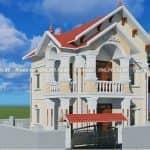 Mẫu Biệt Thự 2 Tầng Mái Thái Đẹp 160 m2 Tại Thái Thụy Thái Bình