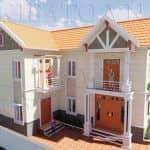 Mẫu Biệt Thự Đẹp 2 Tầng Chữ L 9x15m Tại Bình Lục Hà Nam