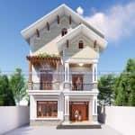 Mẫu Biệt Thự 2 Tầng Hiện Đại Đẹp 200 m2 Tại Mê Linh Hà Nội