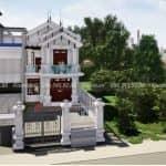 Mẫu Biệt Thự 2 Tầng Mái Thái 200 m2 Tại Nghĩa Hưng Nam Định