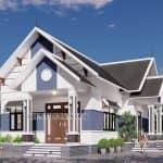 Mẫu Nhà Cấp 4 Đẹp 120 m2 Giá Rẻ Tại Lục Nam Bắc Giang