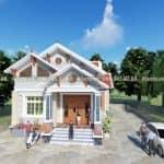 Mẫu Nhà Cấp 4 Đẹp 120 m2 Tại Mỹ Lộc Nam Định