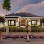 Mẫu Nhà Cấp 4 Đẹp 150 m2 Tại Thái Bình