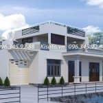 Mẫu Nhà Cấp 4 Đẹp 120 m2 Có Gác Lửng Tại Bình Lục Hà Nam