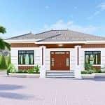 Mẫu Nhà Cấp 4 Đẹp Hiện Đại 150 m2 Tại Cẩm Khê Phú Thọ
