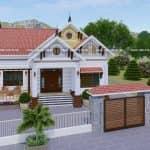 Mẫu Nhà Cấp 4 Đẹp 200m2 Tại Tân Yên Bắc Giang