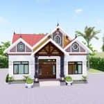 Mẫu Nhà Cấp 4 Đẹp 165m2 Tại Xuân Trường Nam Định