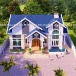 Mẫu Nhà Cấp 4 Đẹp 100m2 Tại Sông Lô Vĩnh Phúc