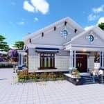 Mẫu Nhà Cấp 4 Hiện Đại Đẹp Tại Lộc Ninh Bình Phước