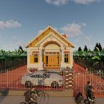Mẫu Nhà Cấp 4 Mái Thái Đẹp 140 m2 Tại Quảng Ninh