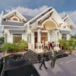 Mẫu Nhà Cấp 4 Mái Thái Đẹp Tại Lâm Thao Phú Thọ