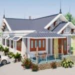Mẫu Nhà Cấp 4 Mái Thái Đẹp Tại Khánh Vĩnh Khánh Hòa