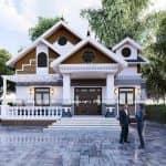 Mẫu Nhà Cấp 4 Mái Thái Đẹp Taị TP Sông Công Thái Nguyên