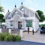 Mê Mẩn Với Mẫu Nhà Cấp 4 Đẹp Tuyệt Vời Tại Hưng Yên