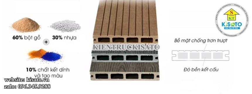 Vật liệu sử dụng trong thi công sàn gỗ nhựa composite