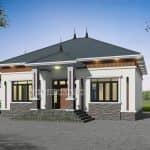 Thiết Kế Mái Cho Mẫu Nhà Cấp 4 Đẹp Năm 2020 Tại Yên Dũng Bắc Giang