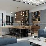 Chiêm Ngưỡng Mẫu Nội Thất Phòng Bếp Phòng Ăn Phòng Khách Cho Căn Hộ Chung Cư