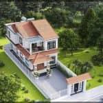 Đứng Hình Với Mẫu Biệt Thự 2 Tầng Hiện Đại Đẹp Tại Minh Lộc Thanh Hóa