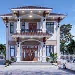 Mẫu Biệt Thự 2 Tầng Tân Cổ Điển Đẹp Năm 2020 Tại Hải Hậu Nam Định