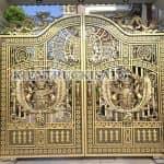 Mẫu Cổng Hàng Rào Nhôm Đúc Đẹp Nổi Bật Nhất Cho Mẫu Biệt Thự Tân Cổ