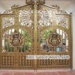 Mẫu Cổng Nhôm Đúc Đẹp 2020 Do KISATO Thi Công Cho Gia Chủ Tại Phúc Thọ Hà Nội