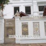 Mẫu Cổng Nhôm Đúc Đẹp Độc Đáo Do KISATO Thi Công Trọn Gói Tại Hà Nội