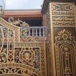 Mẫu Cổng Nhôm Đúc Đẹp Sang Trọng Cho Biệt Thự Mã MC01