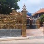 Mẫu Cổng Nhôm Đúc Đẹp Sang Trọng Cho Biệt Thự Mã MC02