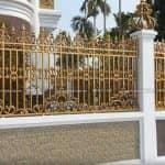 Mẫu Hàng Rào Nhôm Đúc Đẹp Sang Trọng Cho Công Trình Biệt Thự
