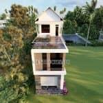 Mẫu Nhà Ống 2 Tầng 1 Tum Đẹp Năm 2020 Tại Yên Định Thanh Hóa