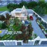 Mẫu Nội Thất Đẹp Phòng Khách Bếp Ăn Biệt Thự Vườn Tại Kiên Giang