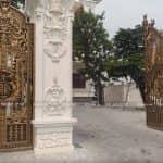 Mẫu Phù Điêu Trang Trí Ngoài Cổng Công Trình Biệt Thự Tân Cổ Lâu Đài