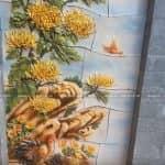 Mẫu Tranh Tường Đắp Hoa Cúc Tuyệt Đẹp