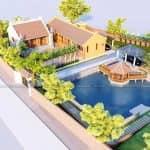 Mẫu Từ Đường 3 Gian Có Không Gian Sân Vườn Đẹp Tại Bắc Giang