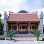 Mẫu Từ Đường Đẹp Kèm Nhà Ngang Tại Xuân Trường Nam Định