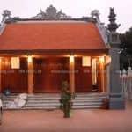 Mẫu Từ Đường Kèm Nhà Ngang 300m2 Đẹp Tại Hưng Yên